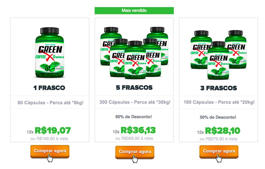 preço green coffee xtreme