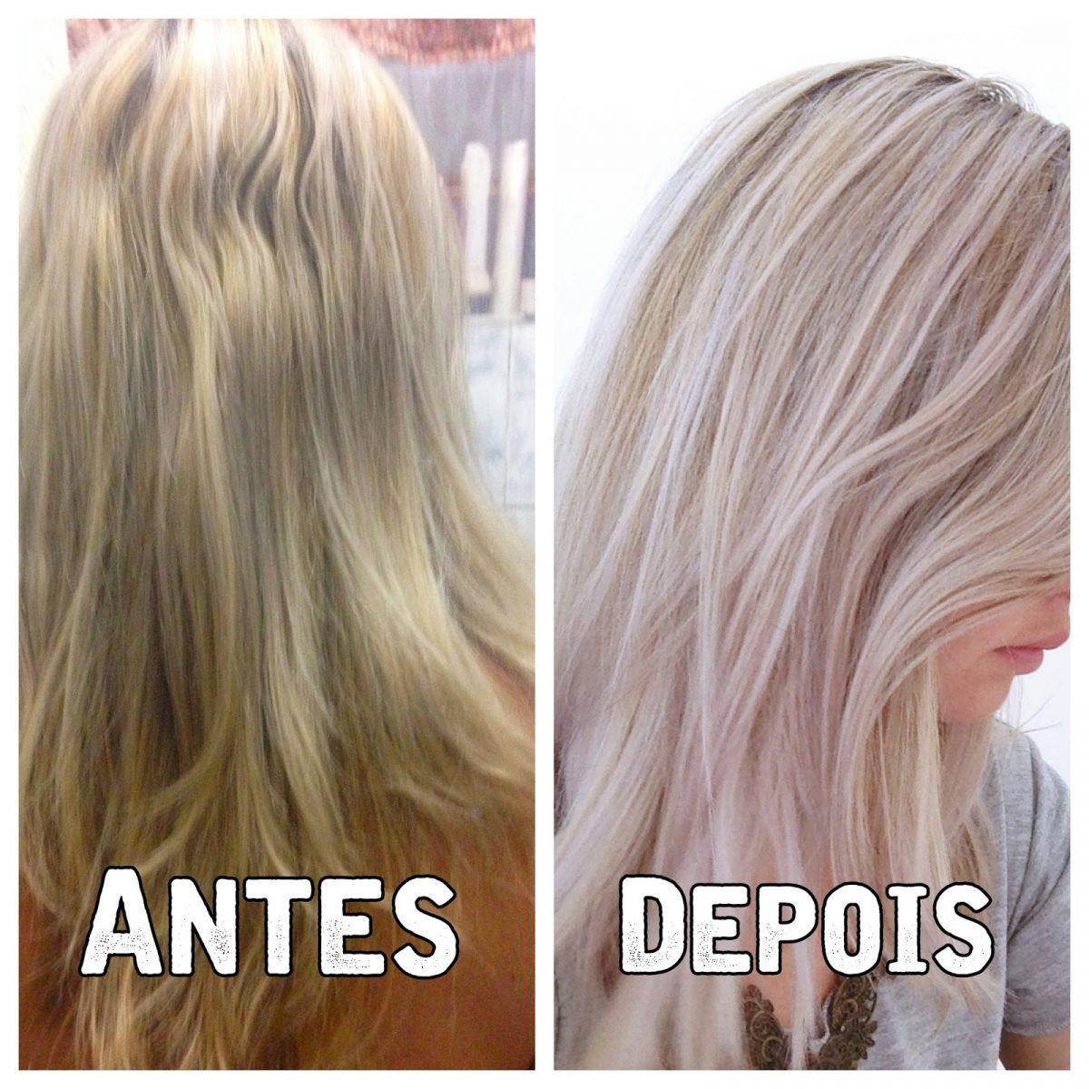 Matizador antes e depois