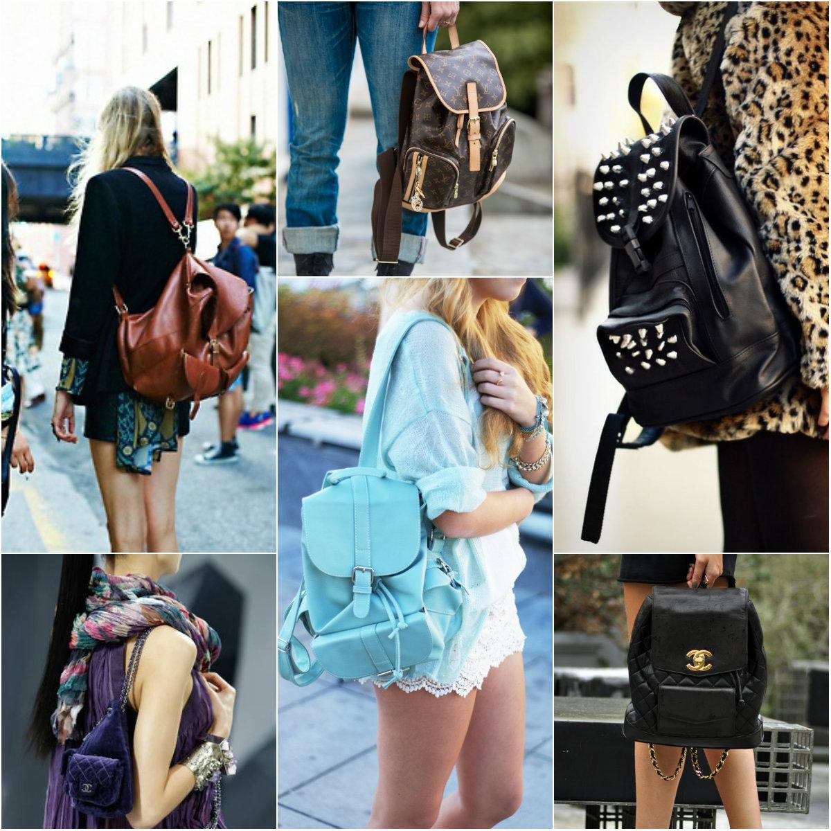 mochila de couro feminina