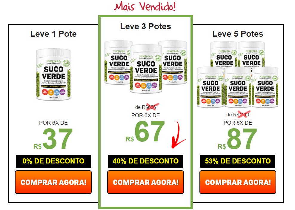 preços mixgreen