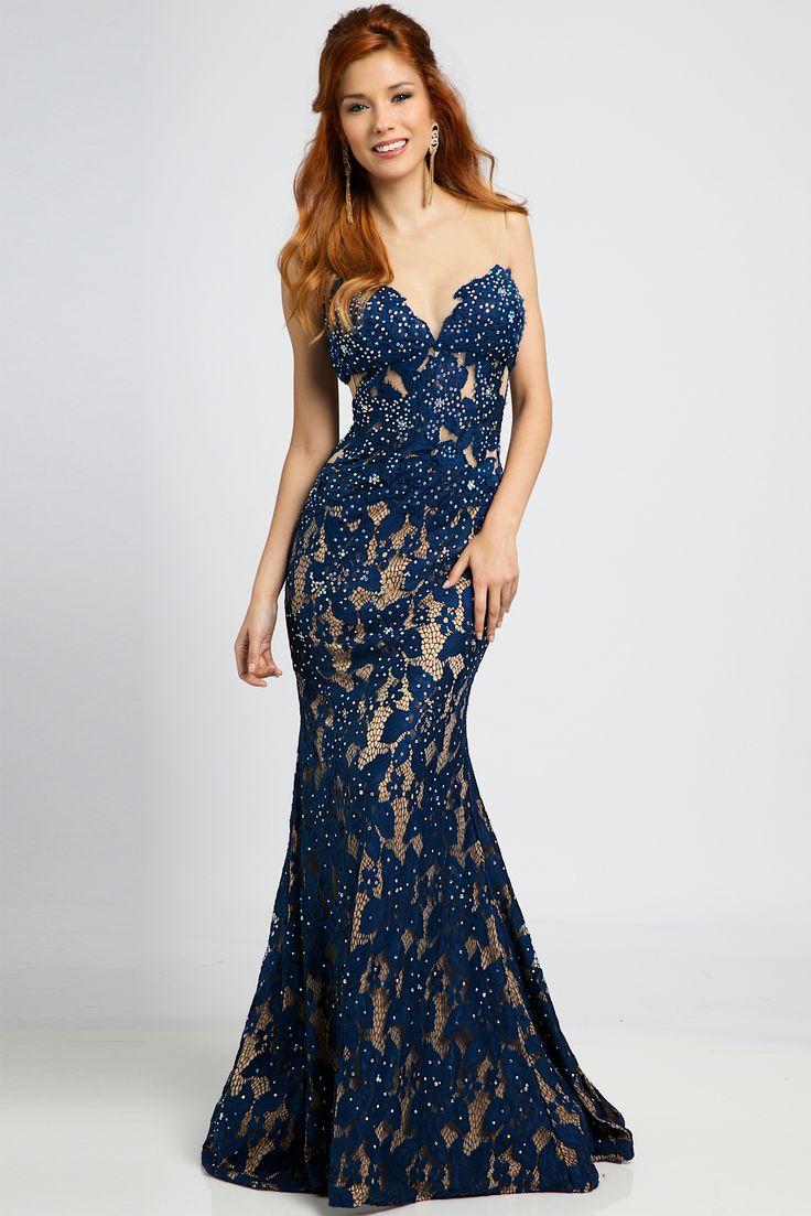 Vestido formatura simples azul
