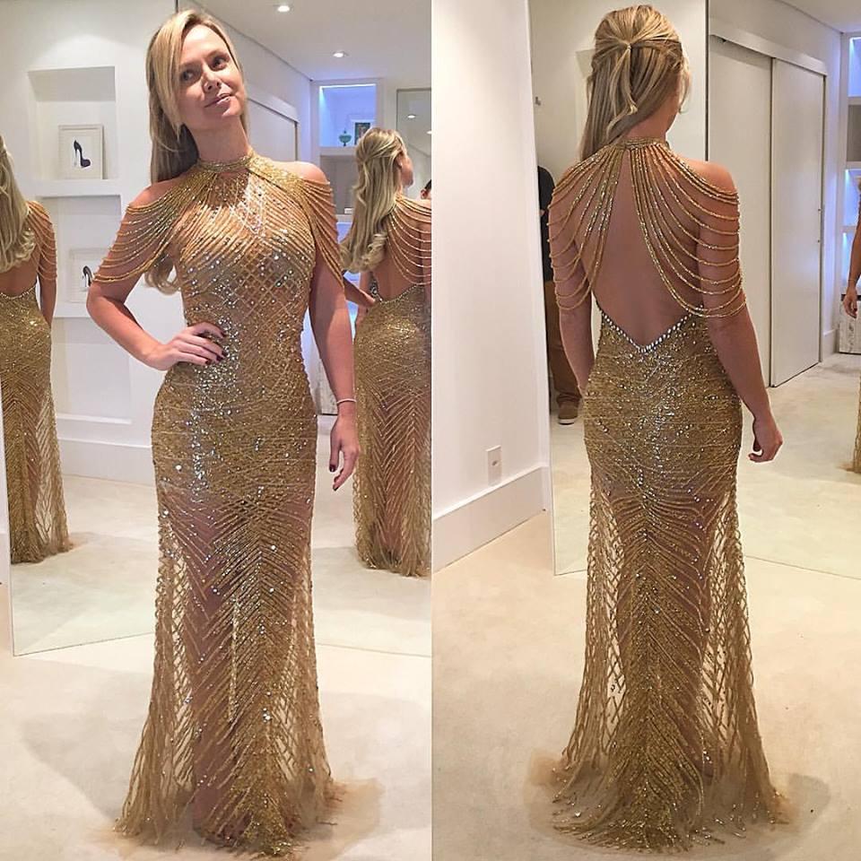 vestido de formatura 2019 brilhoso