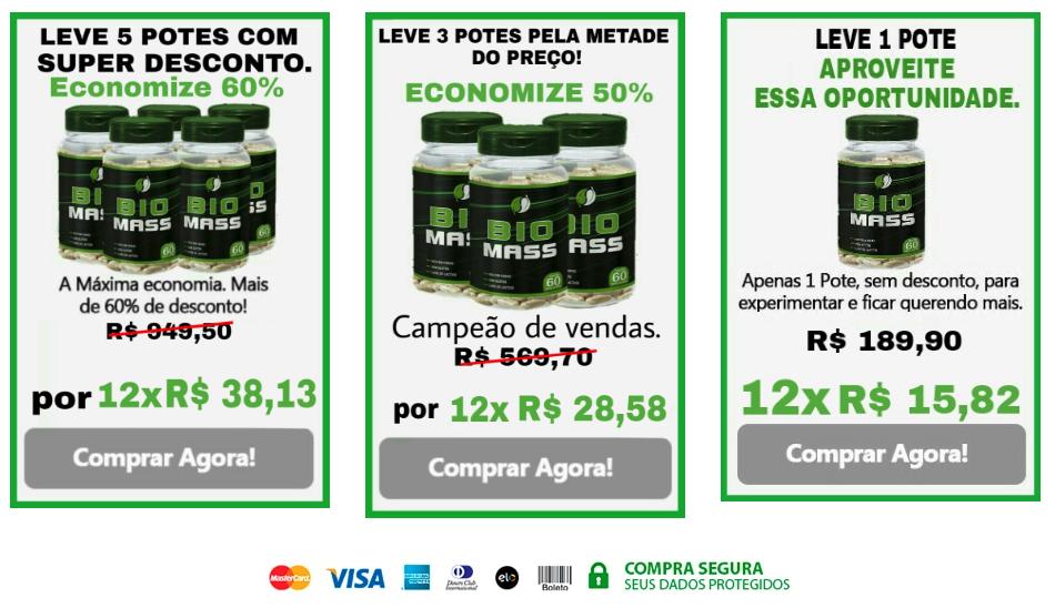preço biomass caps
