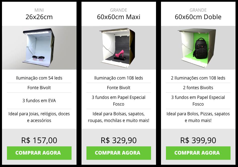 preço photo studio box