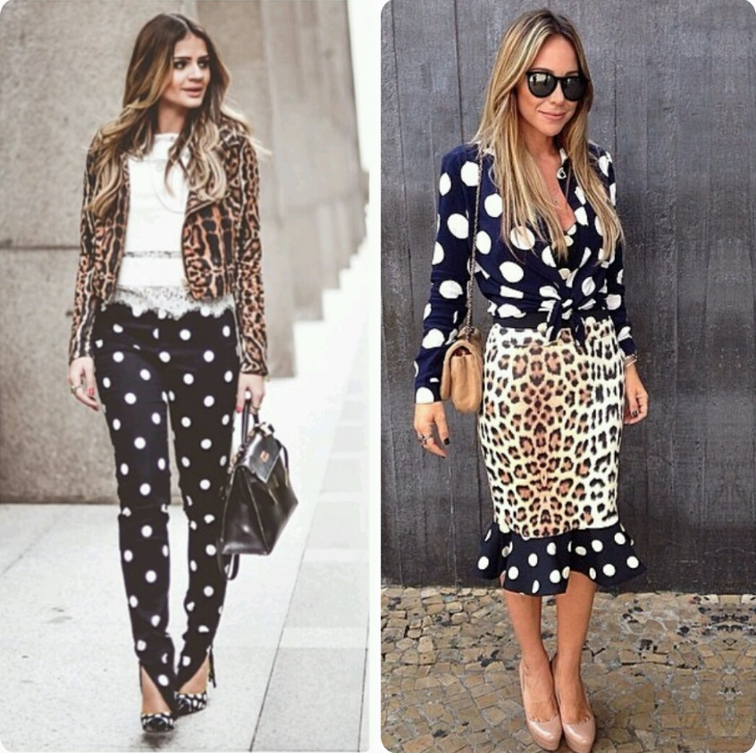 mix de estampas com animal print