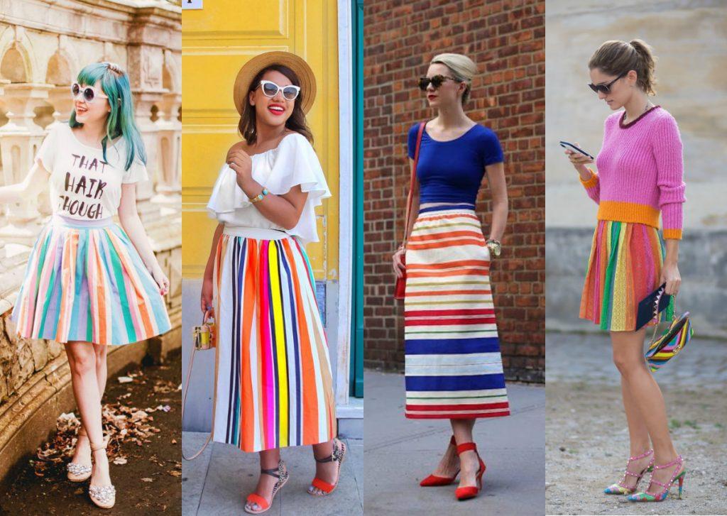 listras coloridas tendencia