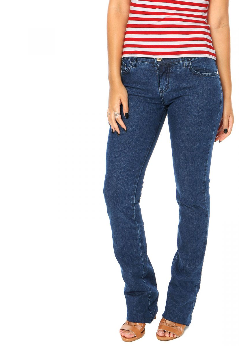 calça jeans reta
