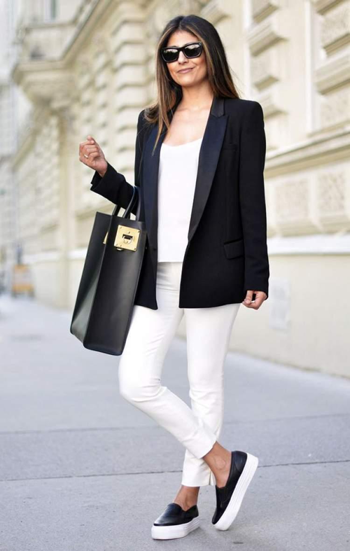 blazer feminino com tenis