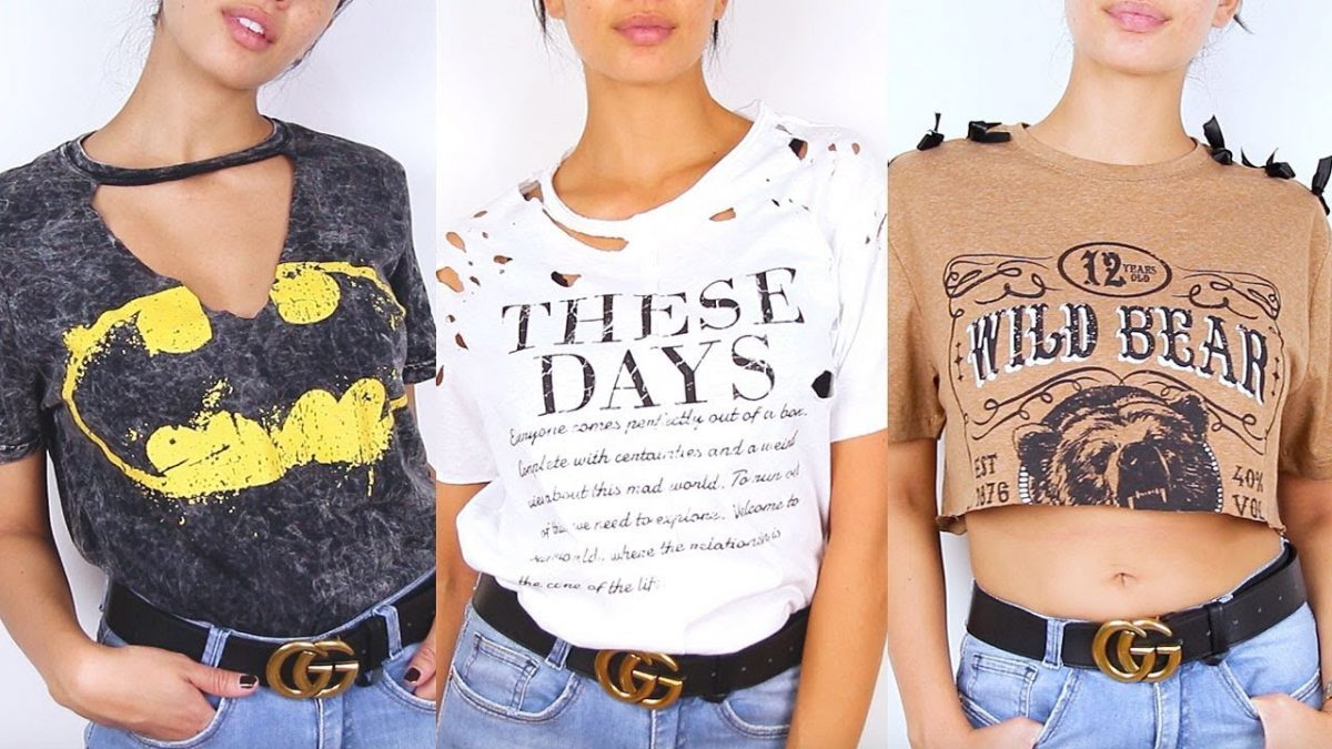 ca178c3af4 Customização de camiseta  50 fotos para inspirar e você customizar a sua!