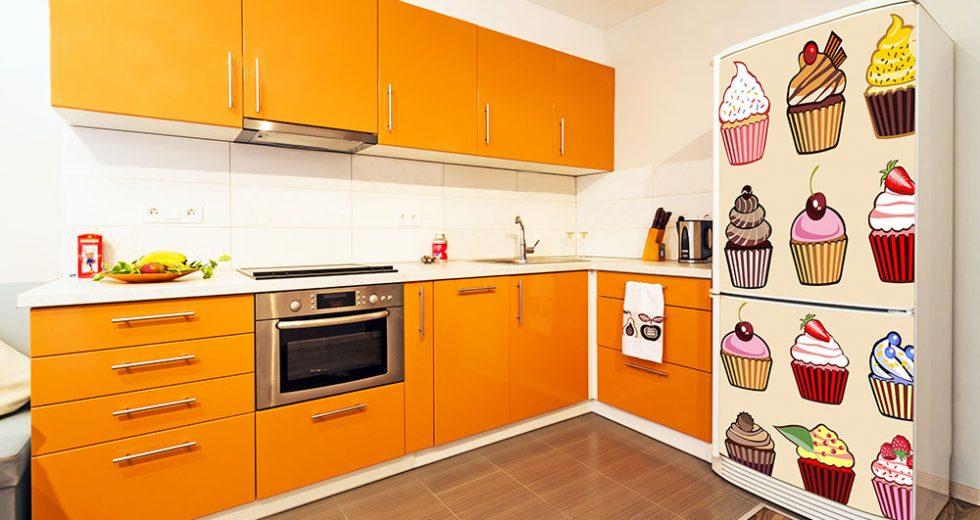 Envelopamento de geladeira: Em inox, aço escovado, cor amarela, azul, e um passo a passo!