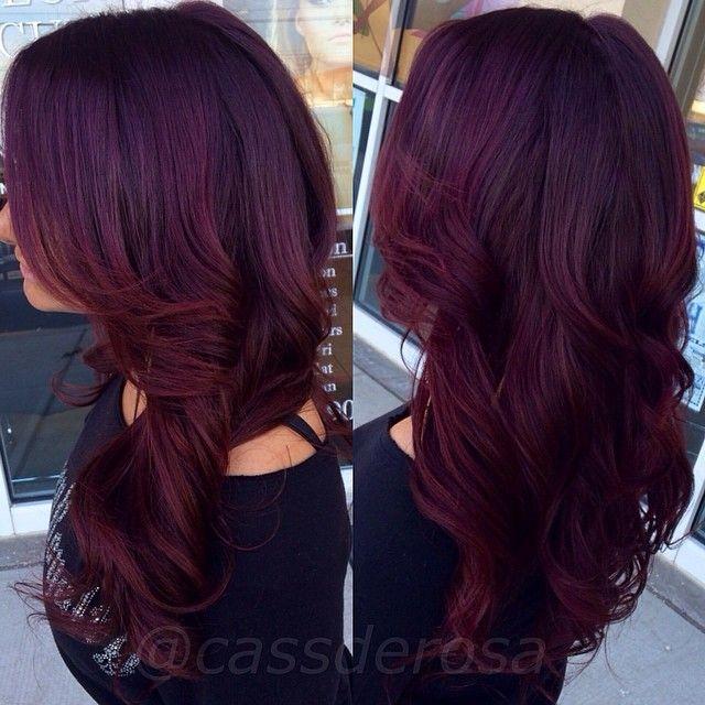 cabelo marsala vinho