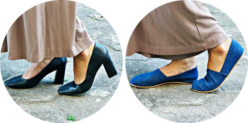 sapatos calça
