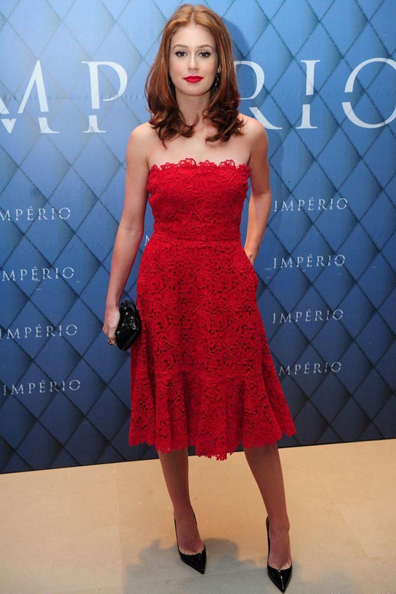 vestido vermelho midi