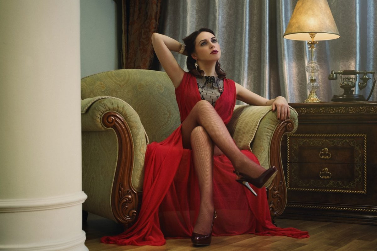 sapato para vestido vermelho