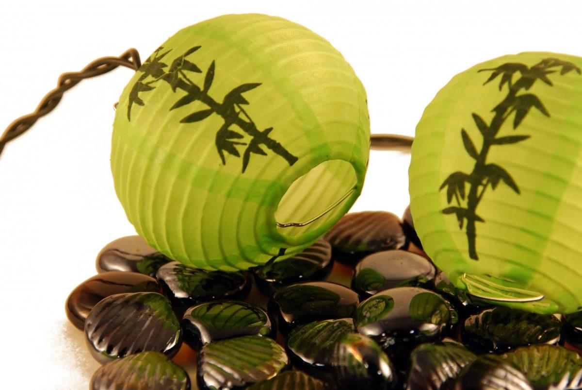 Feng Shui pedras e bolas verdes