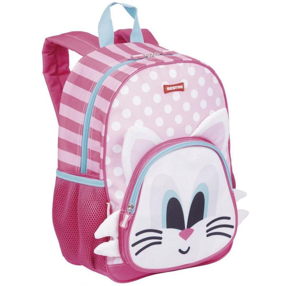 mochila feminina infantil de gatinho