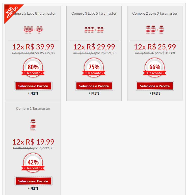 taramaster kit preços
