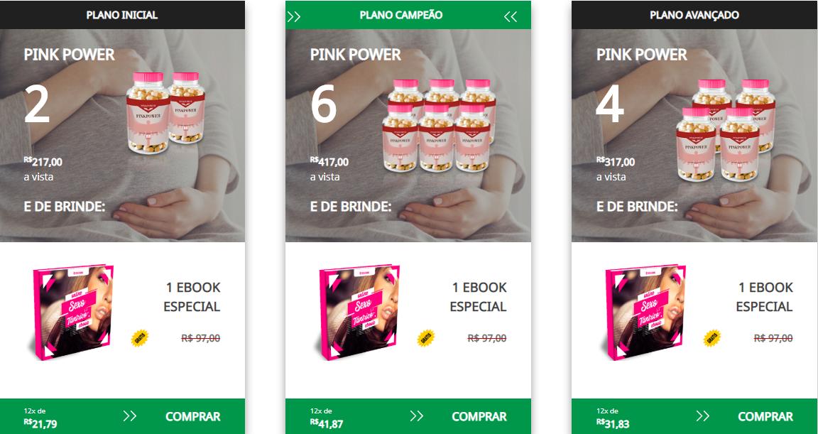 kit preços pink power