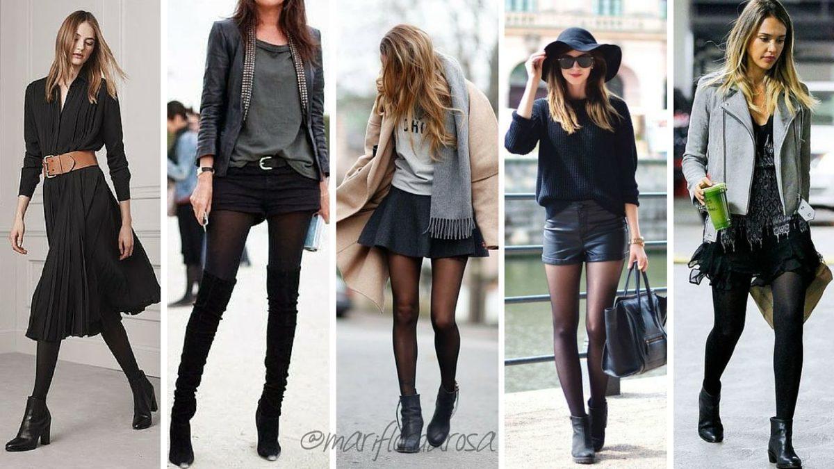 meias calças pretas