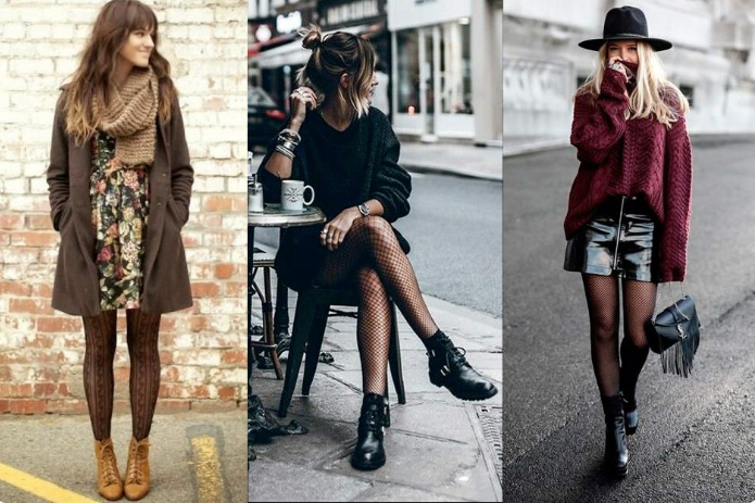 meias calças como acessório de look de inverno
