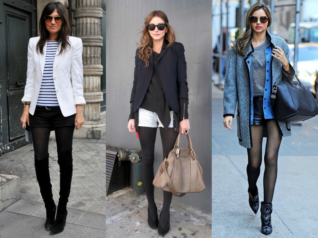 exemplos de meia calça no inverno