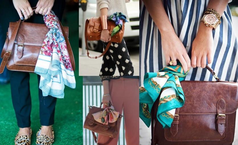 lenços em bolsas