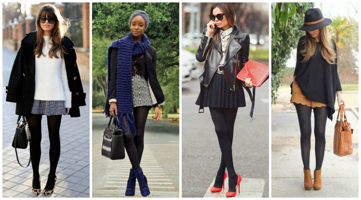 exemplos de como usar meia calça no inverno