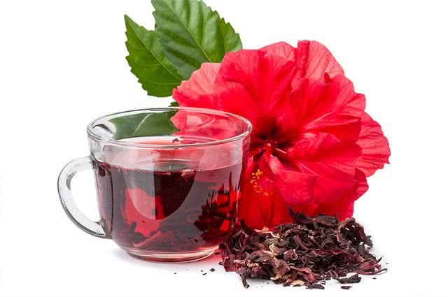 imagem chá de hibisco