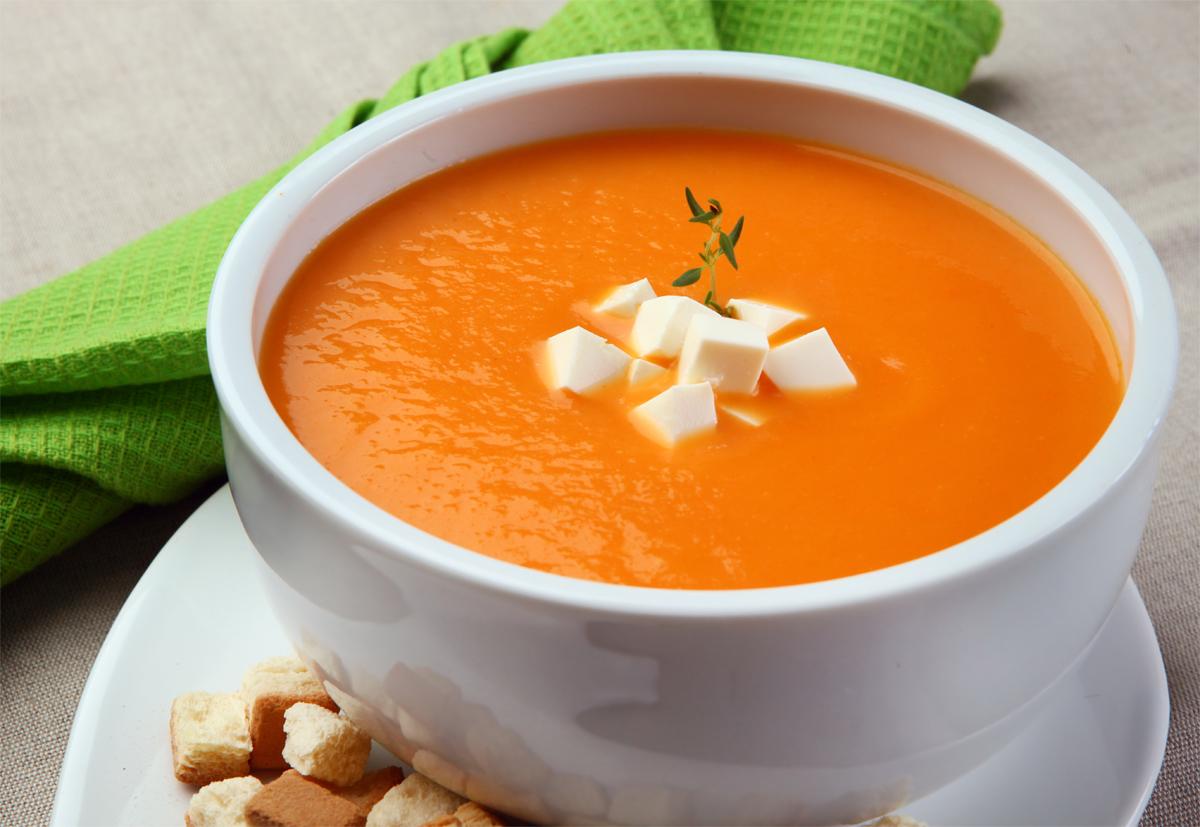 creme de cenoura para o inverno
