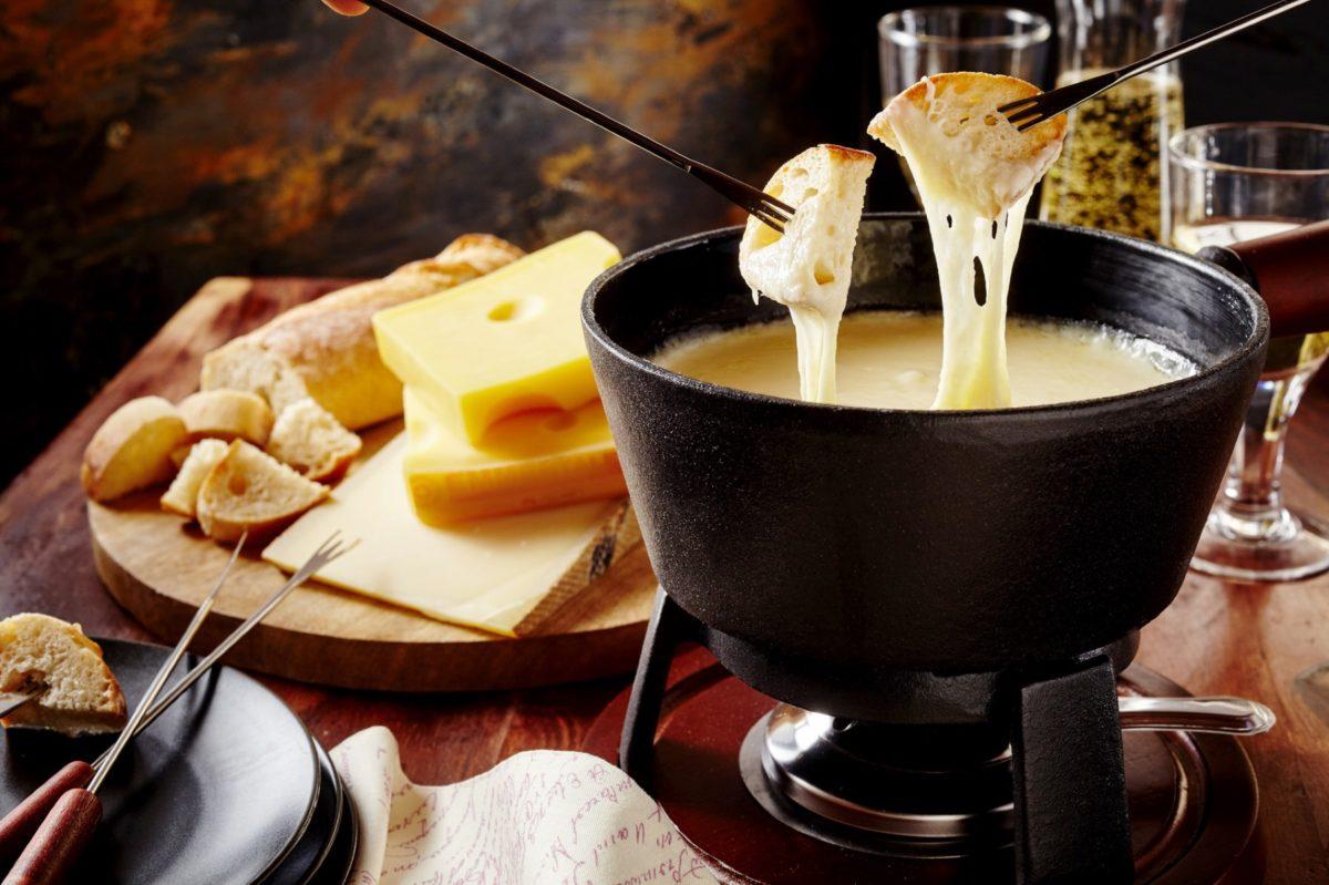 fondue de queijo para o inverno