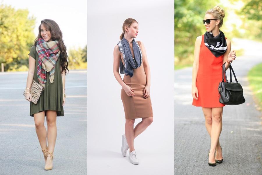 exemplos de como usar a peça no verão com vestidos