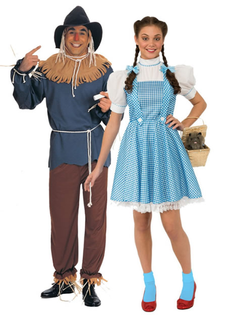 fantasia de carnaval para casal doroty e espantalho