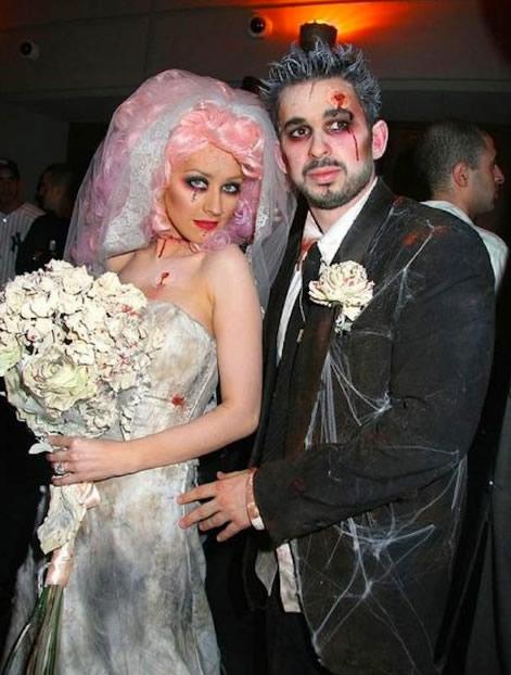 fantasia de casal noiva cadáver e noivo cadáver