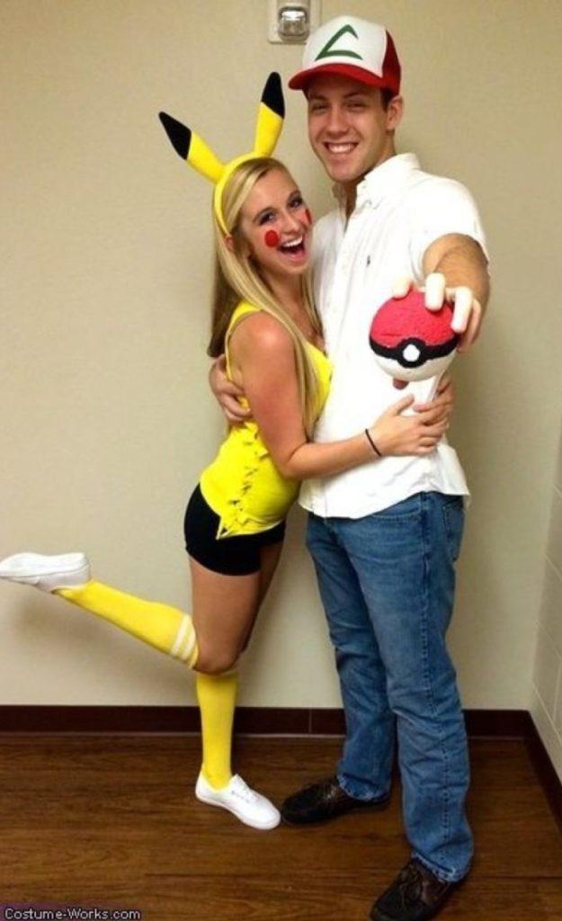 Fantasia para casal de pikachu e ash