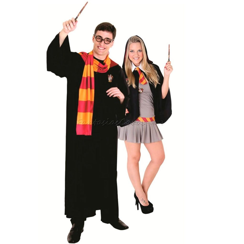 fantasia de casal de harry potter