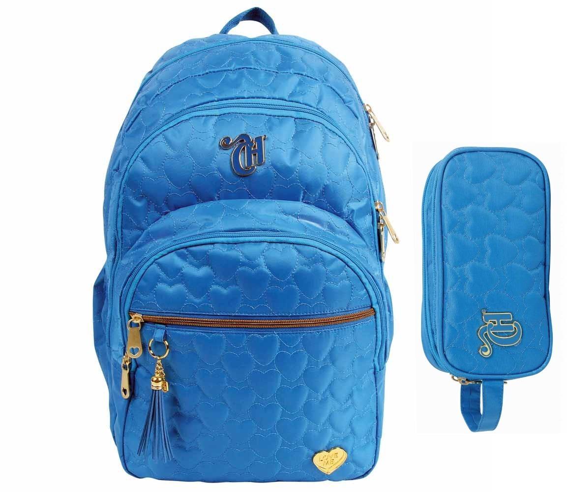 mochila feminina modelo azul