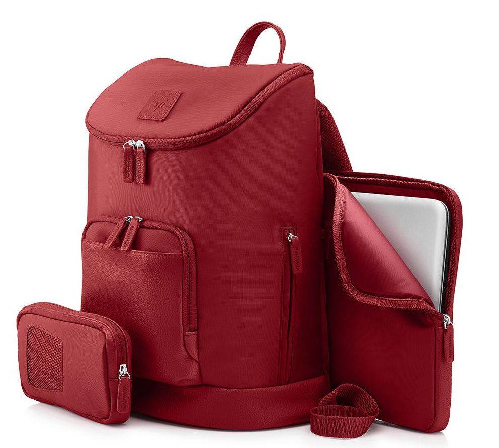 mochila feminina vermelha
