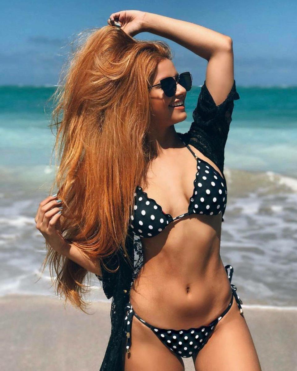 moda praia vestido de poá