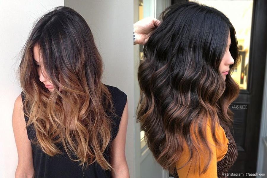 ómbre hair em cabelos pretos