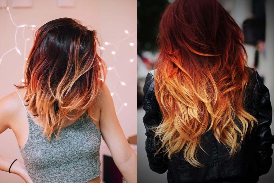 ombré hair vermelho