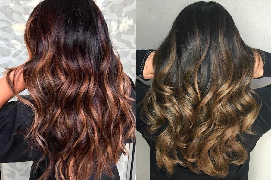 cabelos pretos com ombré hair