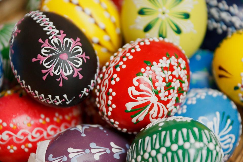 decoracao de ovo de páscoa