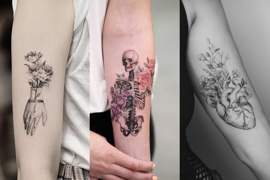 tatuagens de flores pequenas