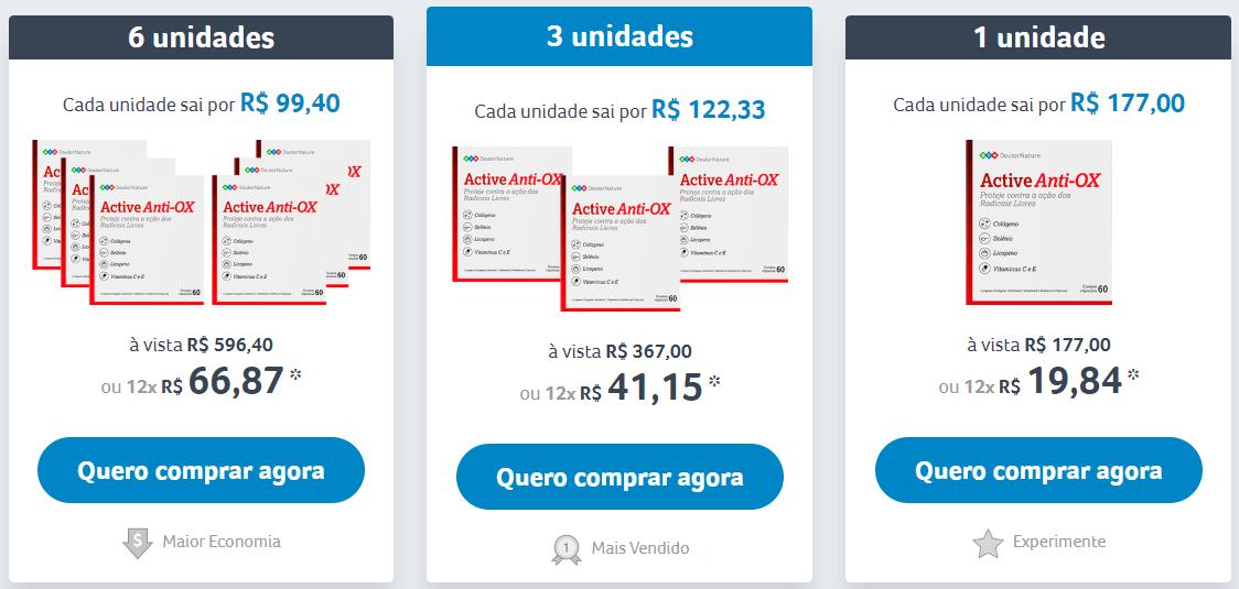 preços do active anti ox