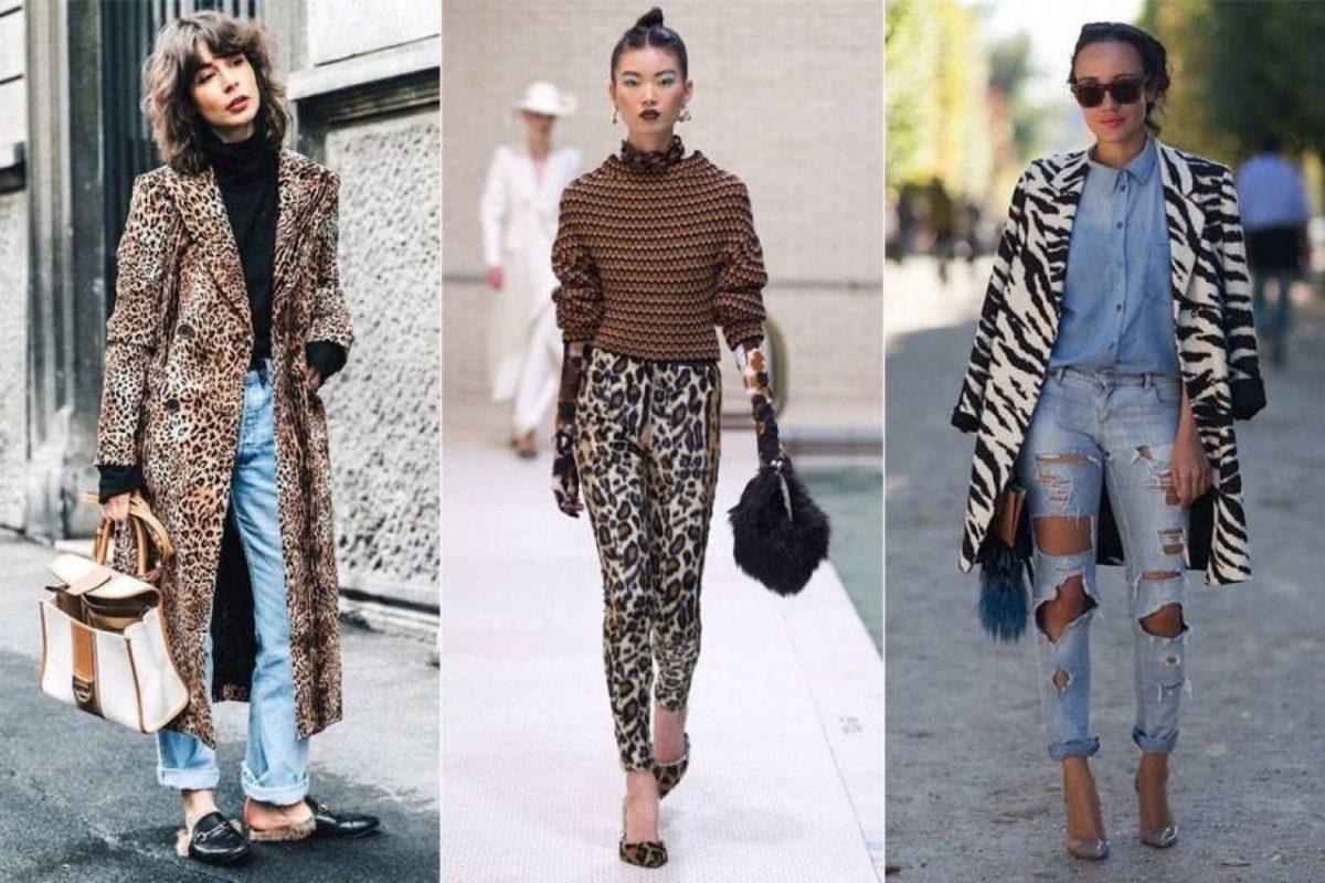 roupas de inverno padrão animal