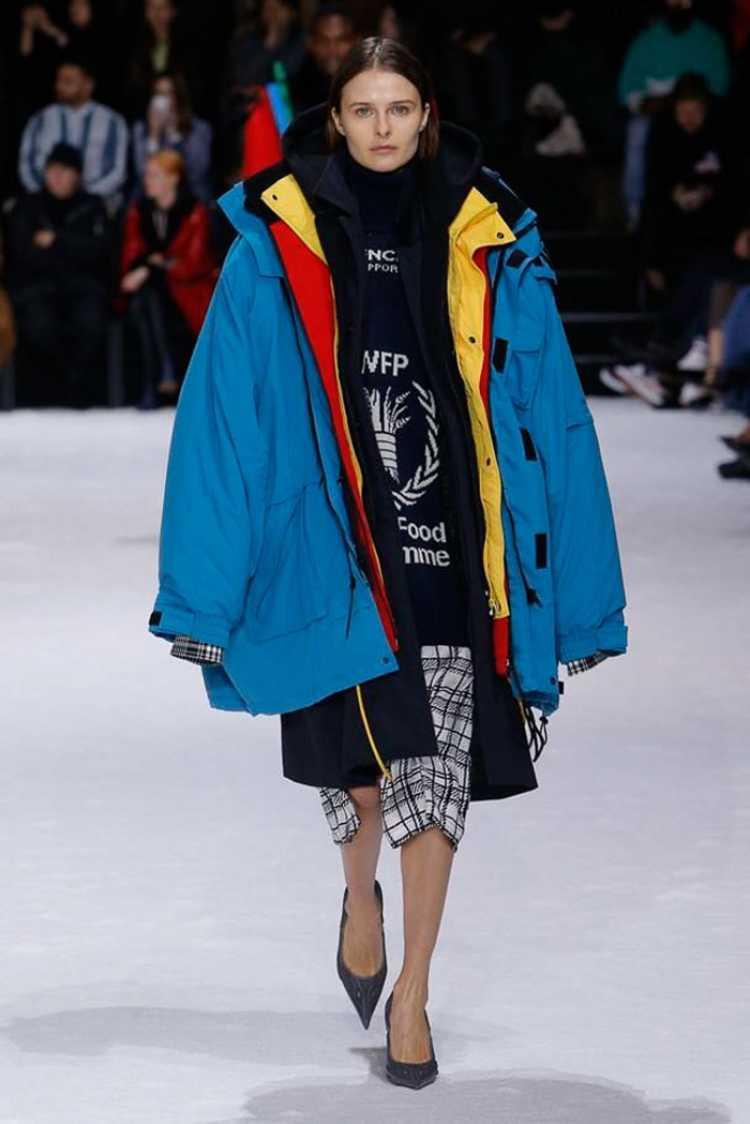 roupa de inverno com sobreposições