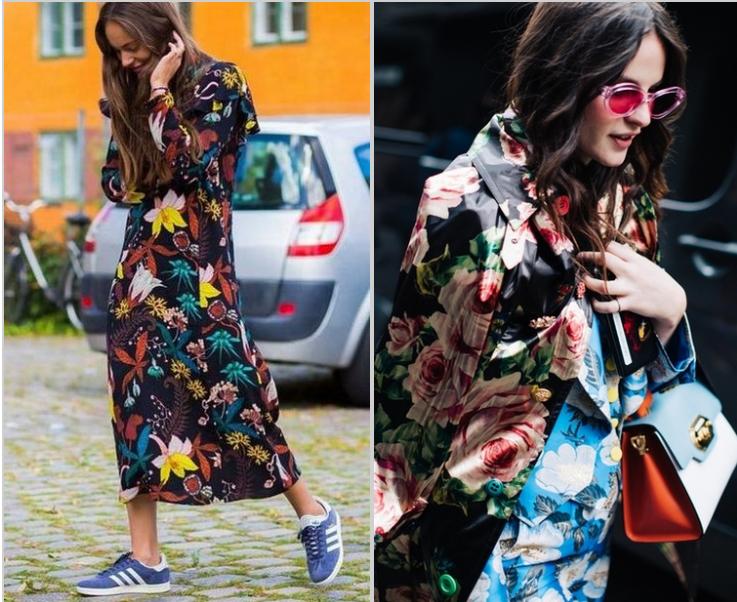 roupas de inverno floridas