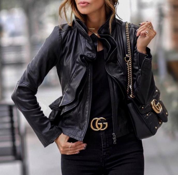 jaqueta de couro para o inverno