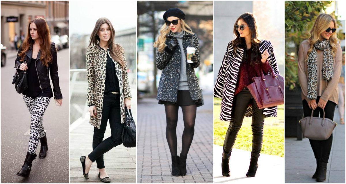 roupa de inverno com padrão animal