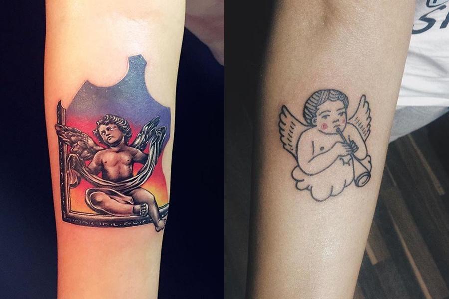tatuagens femininas de anjo